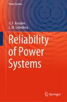 Book about power systems reliability just issued in Switzerland